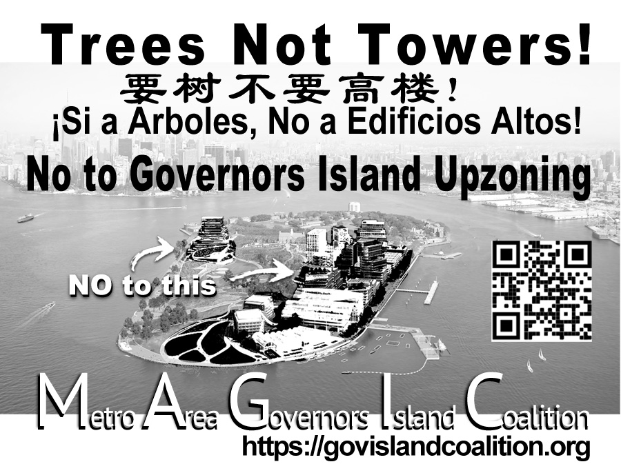 Trees Not Towers on Governors Island
